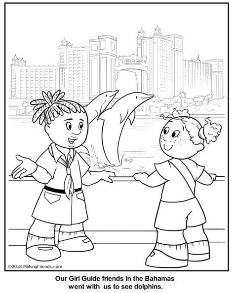 bahamian girl guide coloring page bahamas thinking day