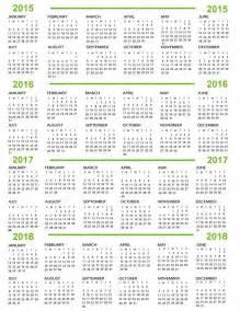 3 Year Calendar 2015 2016 2017