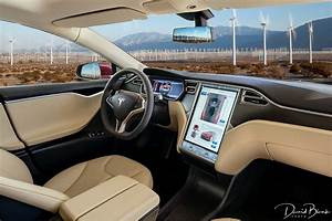 2015 Tesla Model S P85 Plus photographed amongst Power Generating Windmills of Palm Springs, CA ...
