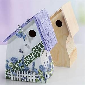 Vogelhaus Bauen Mit Kindern Anleitung : bastelanleitung vogelhaus mit mosaik steinen buttinette bastelshop ~ Watch28wear.com Haus und Dekorationen