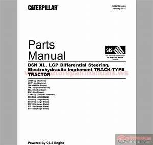 Caterpillar D6n  Xl  Lgp Parts Manual