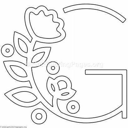Letter Coloring Alphabet Flower Pages Modern Letters