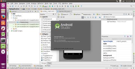 android studio ubuntu android er install android studio 2 0 on 64 bit ubuntu 15