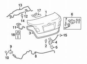Toyota Camry Grommet  Release  Lever  Door  Cable  Panel