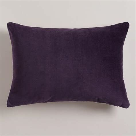 purple lumbar pillow purple stripe velvet lumbar pillow world market
