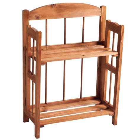 Two Shelf Bookcase by Lavish Home Brown Open Bookcase 83 11 2 The Home Depot