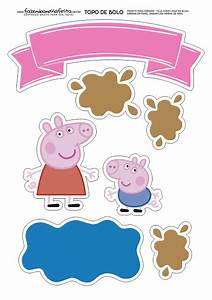 George and Peppa Pig: Free Printable Cake Toppers Oh My