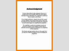 10+ acknowledgement example for assignment stretching