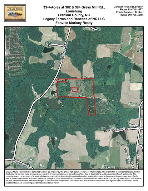 louisburg franklin county north carolina land  sale