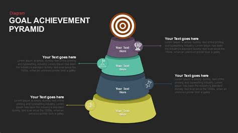 goal achievement pyramid keynote  powerpoint template slidebazaar