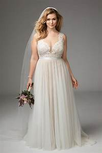 Girl with curves featuring plus size wedding dress from for Wedding dress sizing