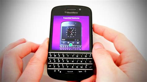 blackberry q10 unboxing overview