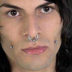 earring men nose piercing