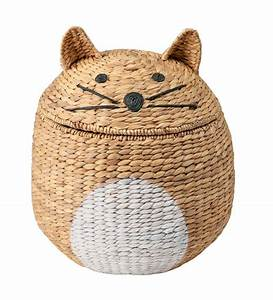 Woven Cat-Shaped Storage Basket with Lid | Eligible for ...