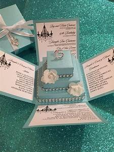 tiffany blue exploding box w square cake diy kit jinkys With diy wedding invitations in a box