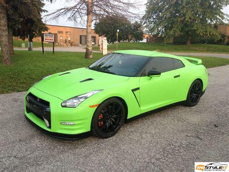 nissan green matte lime green nissan gtr vinyl car wrap car wraps