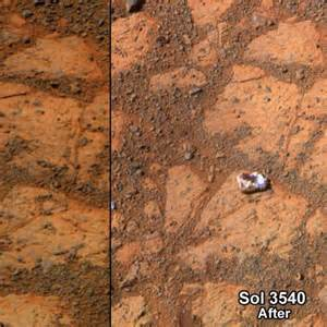 Mars mystery: White rock inexplicably appears near ...