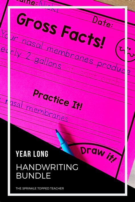 fun  silly handwriting worksheets  change