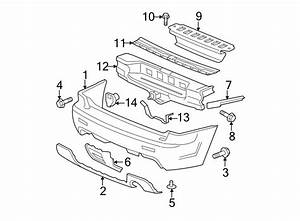 Chevrolet Trailblazer Bumper Cover Bracket  Rear