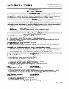 sample resume for software engineer with 2 years With sample resume for software engineer with 2 years experience