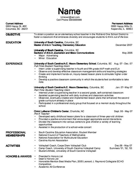 resumes resume template clean