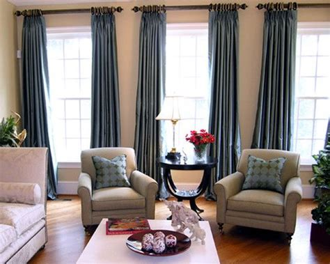 living room thick curtain rods with heavy faux