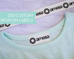 qty 200 custom iron on clothing label personalized name With custom iron on clothing labels