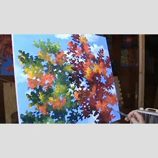 Einfache Malerei Von Bäumen Mit Acryl Auf Leinwand Youtube