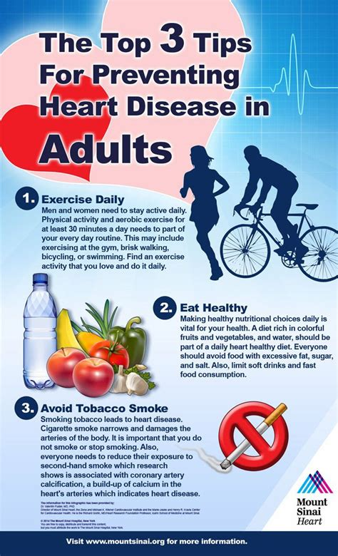 top  tips  preventing heart disease  adults