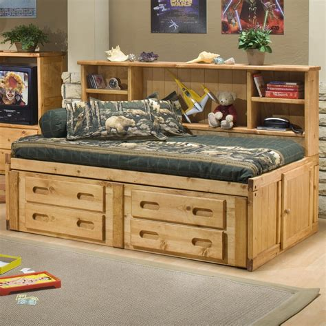 4127 bedroom photo frames trendwood bunkhouse cheyenne captain s bed with
