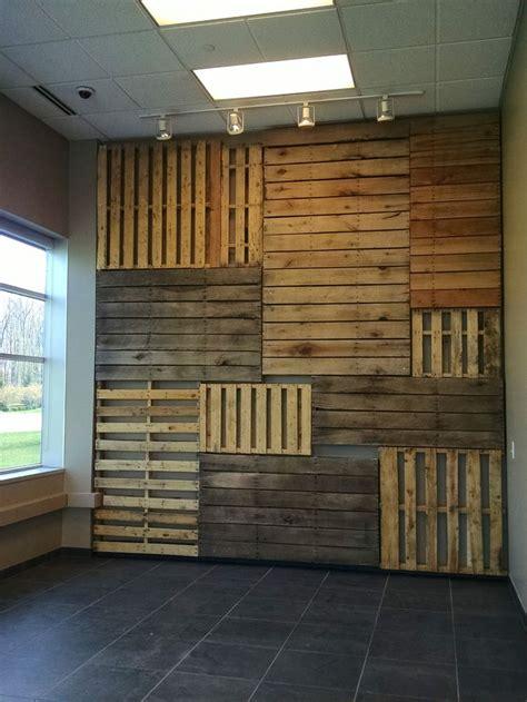 pallet focal wall  pallets wood wall design wood