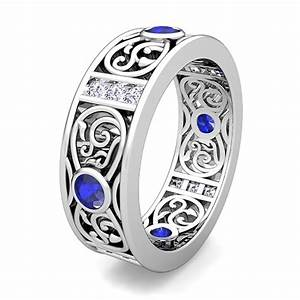 Custom celtic wedding band ring for men with gemstones and for Celtic wedding rings for men