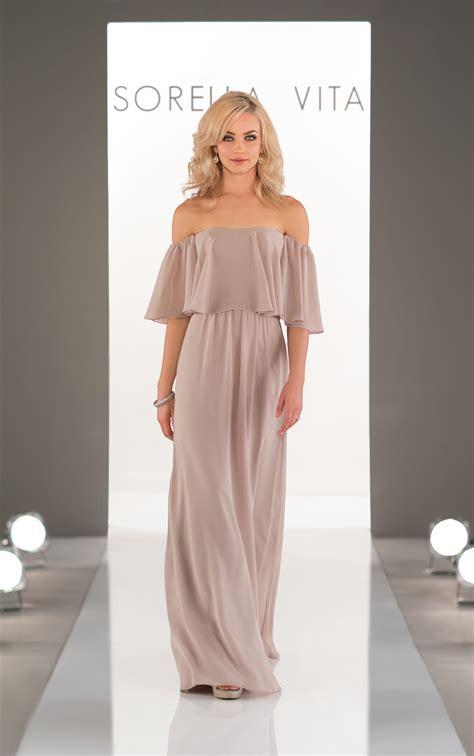 bridesmaid dresses   shoulder boho bridesmaid gown