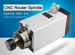 Cnc Router Spindle Motor 1 5kw 2 2kw 3kw 4 5kw 6kw Air Cooled