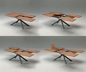 Tisch 8 Personen : ozzio 4x4 eckiger esstisch zum ausziehen mit holzplatte ~ Markanthonyermac.com Haus und Dekorationen