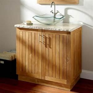 davausnet idee salle de bain teck avec des idees With petit meuble salle de bain teck