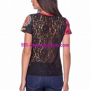 Tee Shirt Ete Femme : vetement femme fashion top tshirt dentelle ete fleurie ethnique 101 id es 453y vetement femme ~ Melissatoandfro.com Idées de Décoration