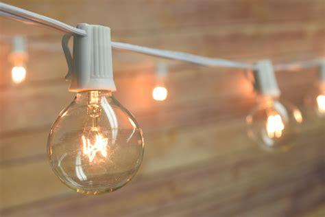10 socket outdoor patio string light set g40 globe bulbs