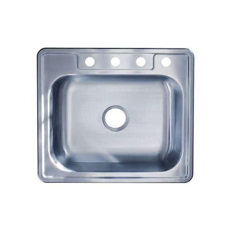 best stainless steel sinks 25 quot x 22 quot x 6 quot top mount single bowl 22 gauge 304
