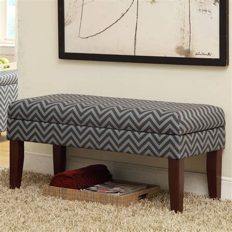 Decorative Storage Bench by Homepop Decorative One Seat Bench With Storage Reviews
