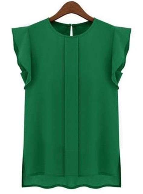 emerald green blouse emerald green puff sleeve chiffon blouse azules y
