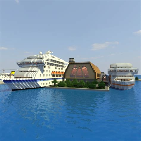 Cruise Ship Terminal Minecraft Project