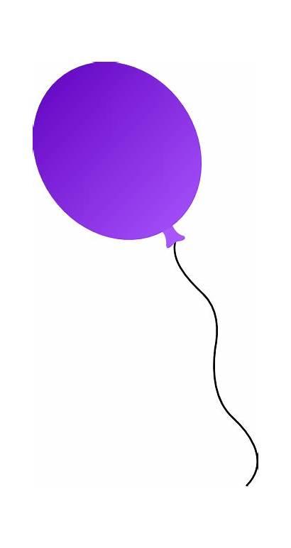 Balloon Balloons Purple Clipart Clip Cartoon Birthday