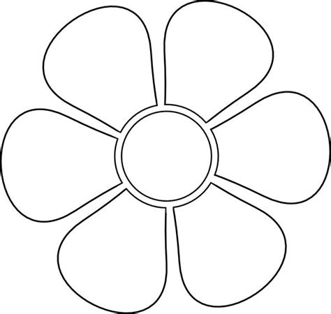 free flower templates stencil clip at clker vector clip royalty free makes me happy