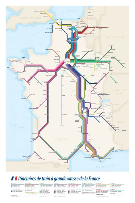 foto de Project: High Speed Train Routes of France Transit Diagram