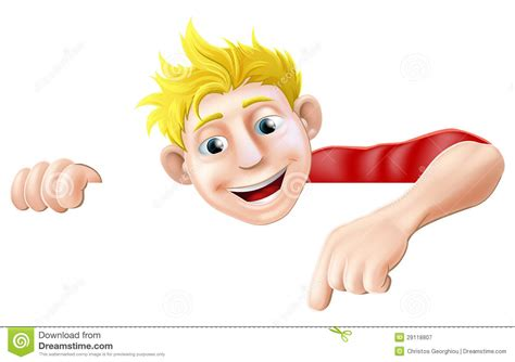 Cartoon Man Pointing Cartoon Vector
