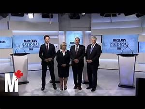 Leaders pose for the cameras: Maclean's debate - YouTube