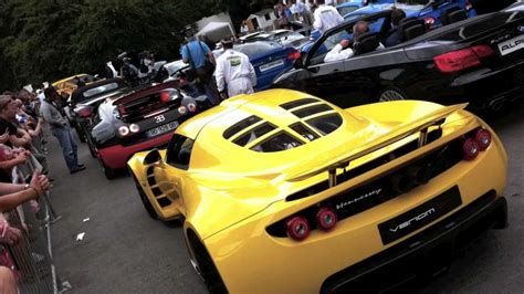 Bugatti Veyron Ss & Hennessey Venom Gt At 2011 Goodwood