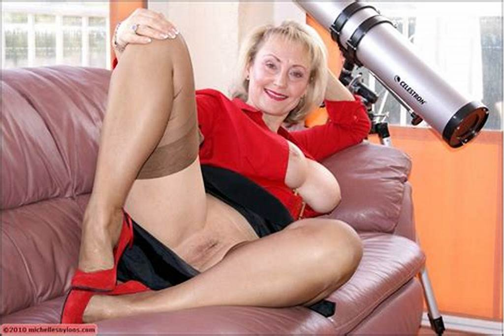 #Mature #Bbw #In #Stockings #And #High #Heels #Posing #Topless #And