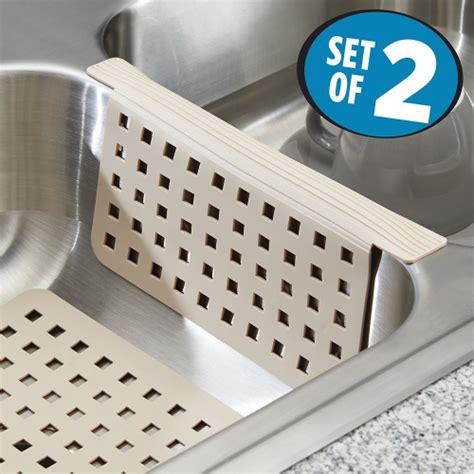 mdesign kitchen sink mat  sink divider protector set